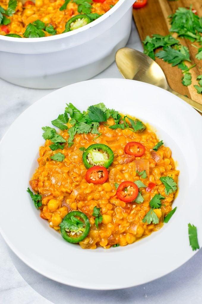 Easy Vegan Dinner Recipes - moroccan chickpea lentil stew