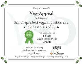Best Class 2016 Veg-Appeal