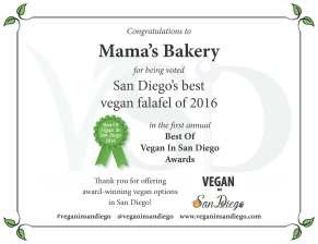 Best Falafel 2016 Mamas Bakery