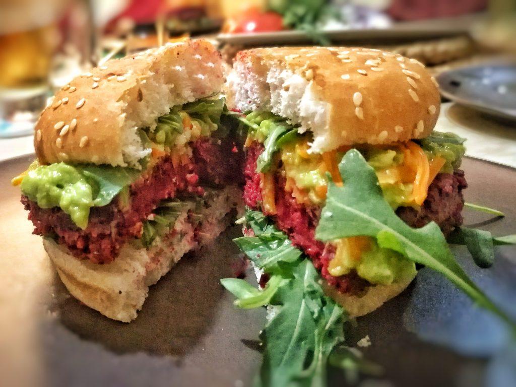 hamburguesas veganas de remolacha y avena