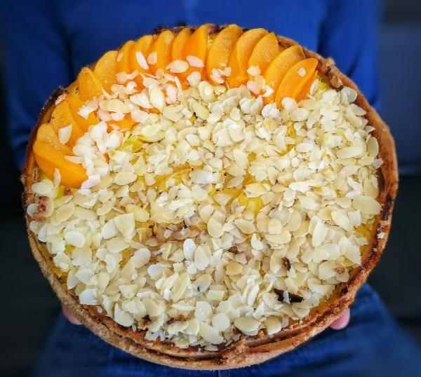 Pastel de melocotón en almibar -Sin leche ni huevo- ¡100% Vegetal!