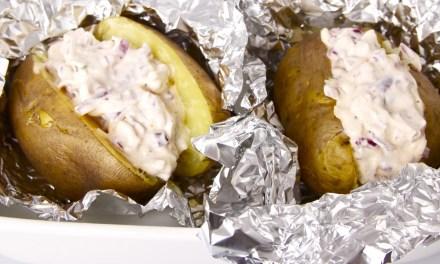 Aardappelen in de oven met vegan roomkaas