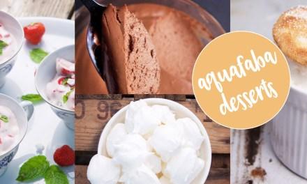 Desserts met aquafaba