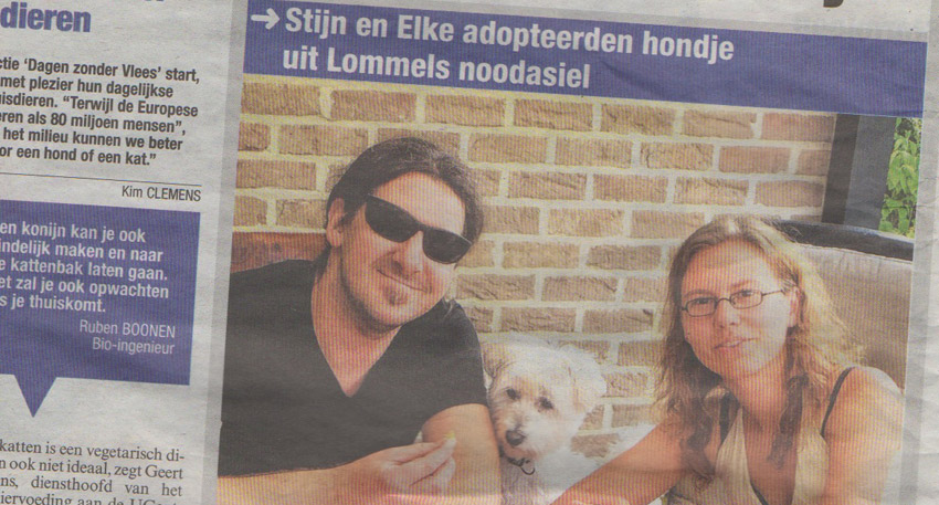 Snoopy (vegetarische hond) in het Belang van Limburg