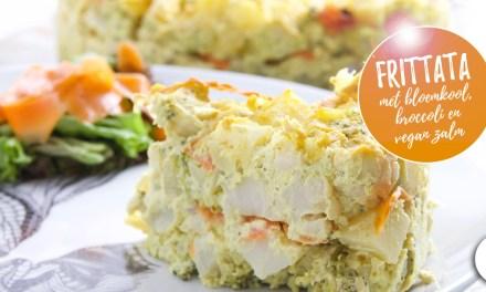 Frittata met bloemkool, broccoli en vegan zalm