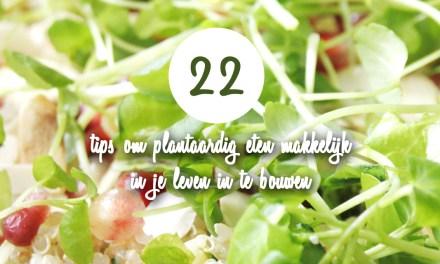 22 tips om plantaardig eten in je leven in te bouwen – Zonder gedoe :-)