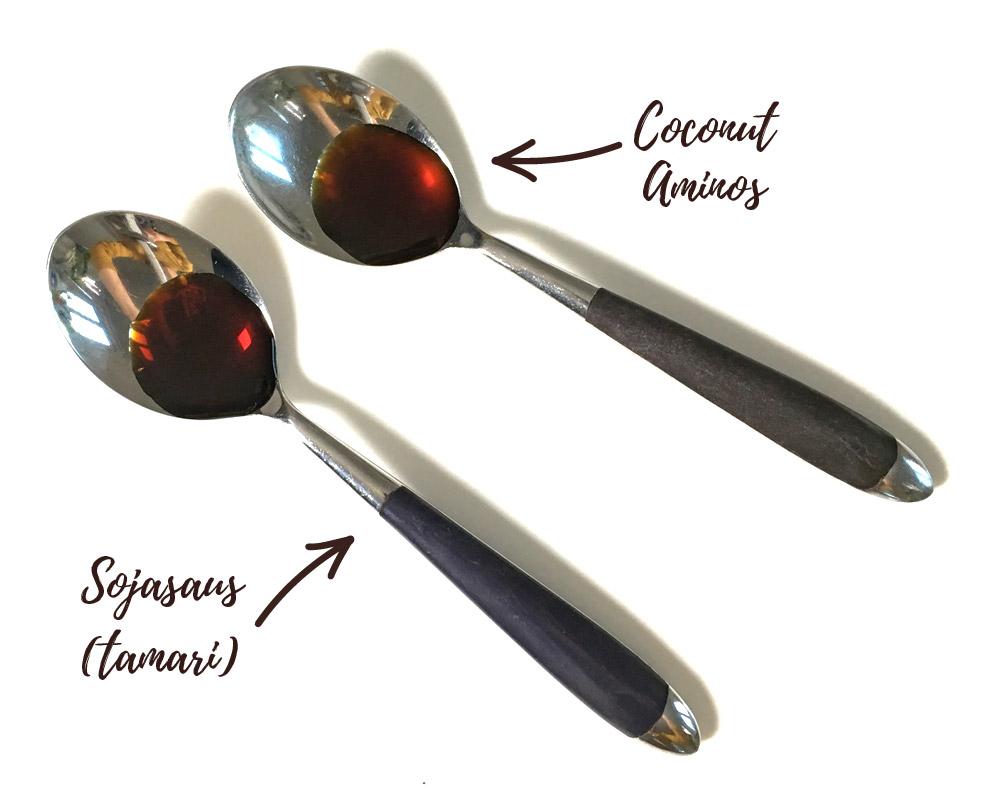 Coconut aminos vs sojasaus