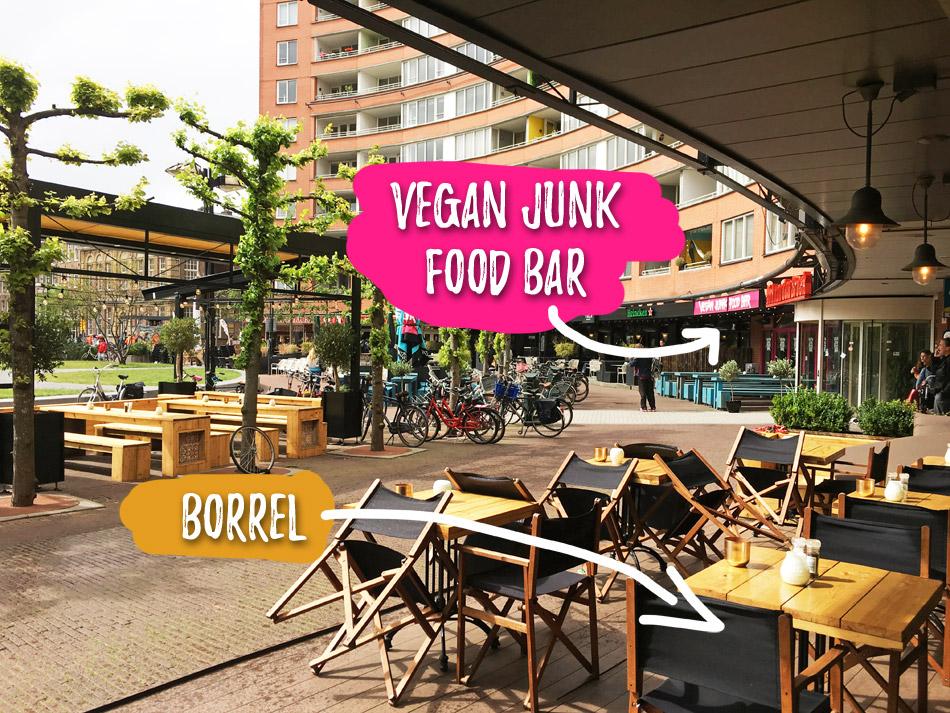 Vegan junk food bar - Marie Heinekenplein in Amsterdam