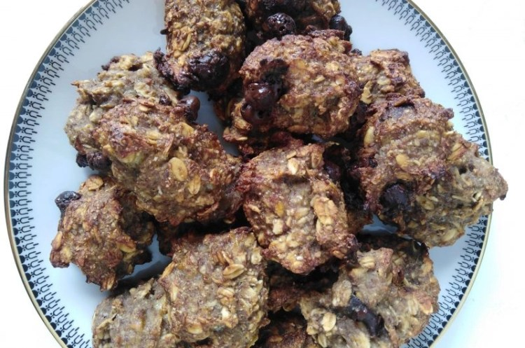Banana Bread Cookies - Oil-Free No Flour - Easy and Healthy - Vegan