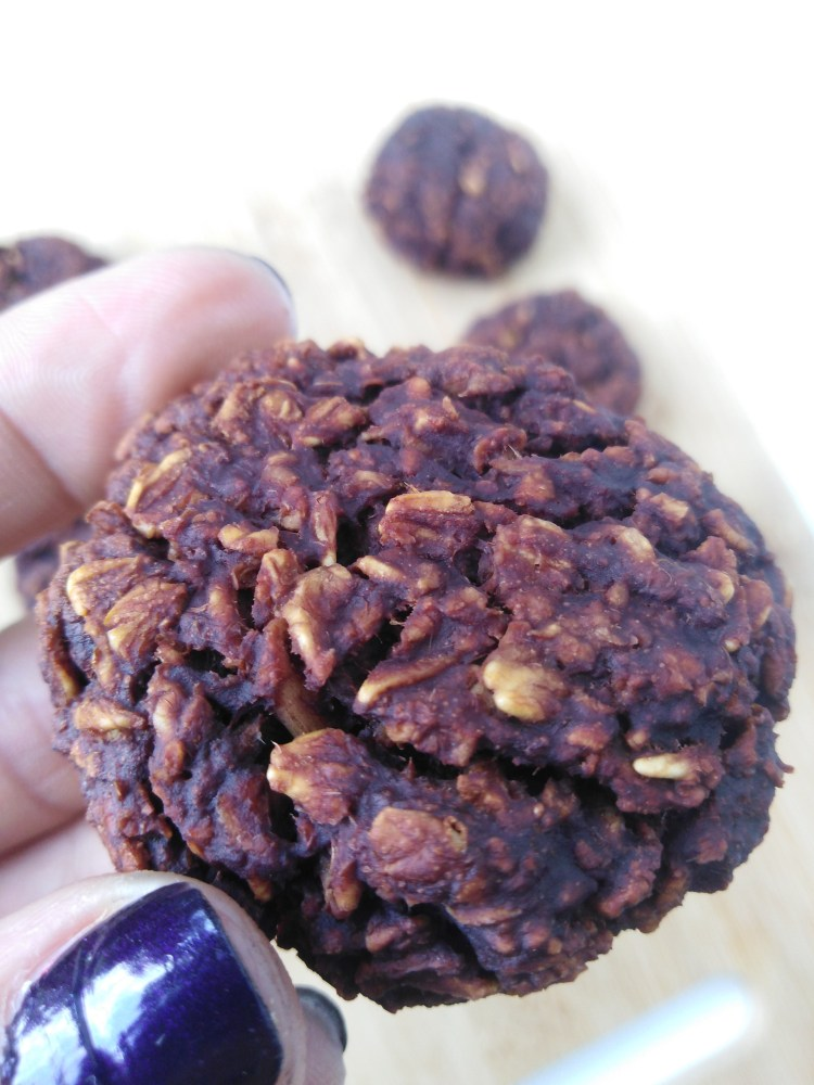 close-up of hand holding a cookie