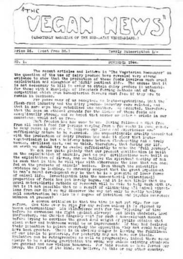 The Vegan News - Edição número 1 - História do Veganismo