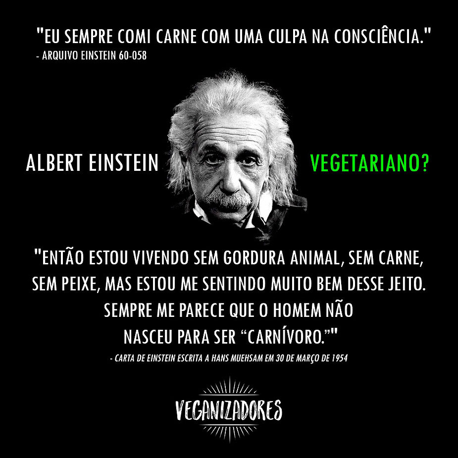 Albert Einstein Foi Mesmo Vegetariano Veganizadores