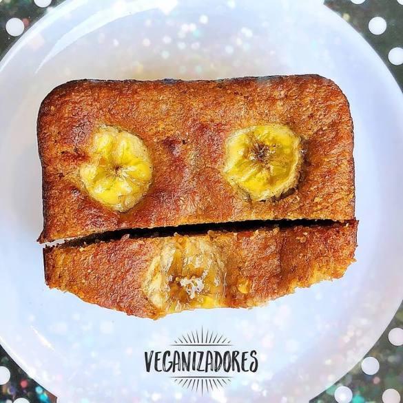 Bolo de Banana Vegano v.3 - Receita Veganizadores
