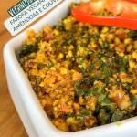 Farofa couve e amêndoas - Receita Vegana