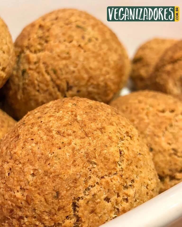 Pãezinhos de Quinoa Veganos - Receita Veganizadores
