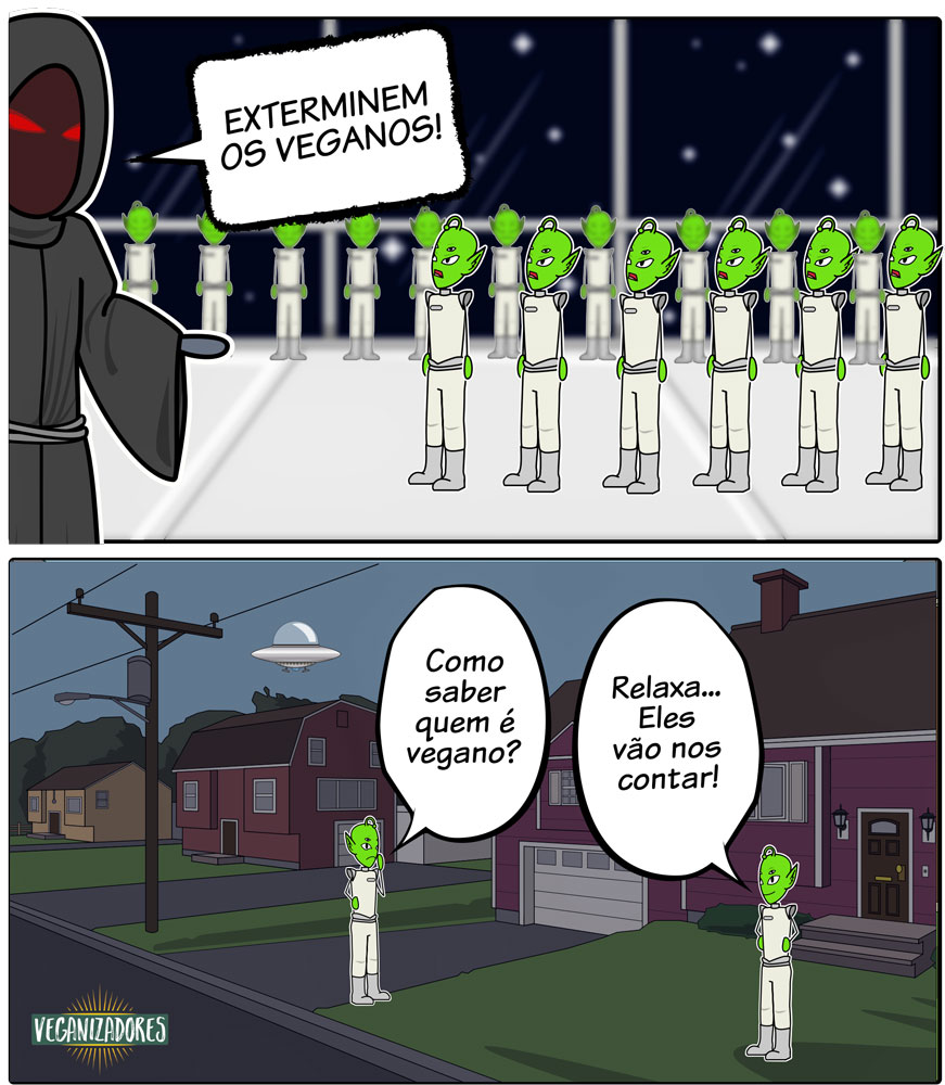 Ataque Alienígena - Quadrinhos Veganos | Veganizadores