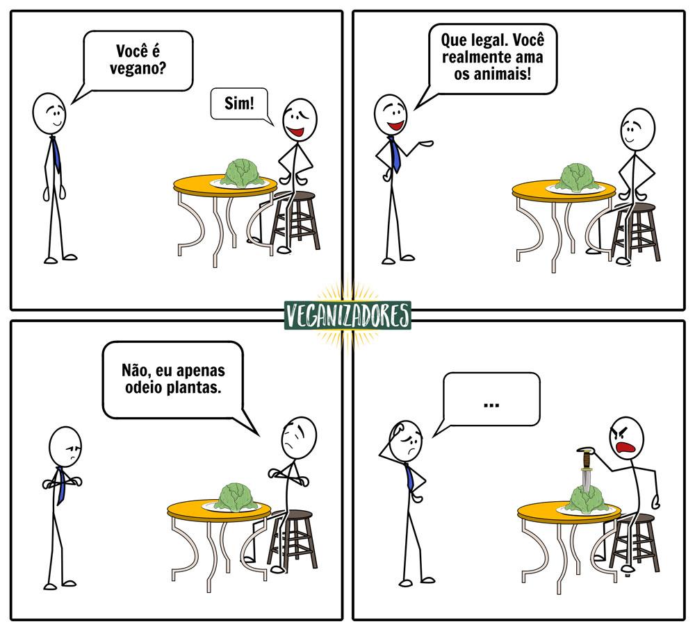 Odeio Plantas - Quadrinhos Veganos - Veganizadores