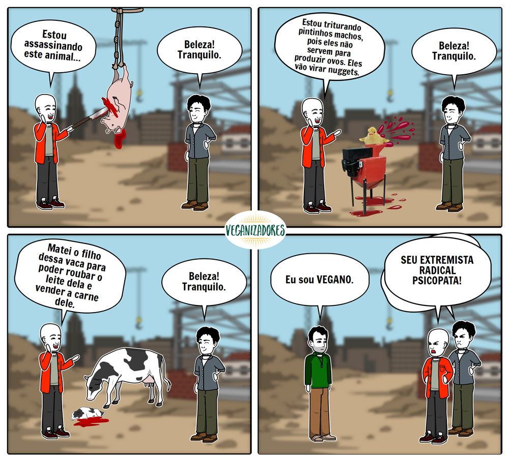 Quadrinhos Veganos - Inversão de Valores - Veganizadores