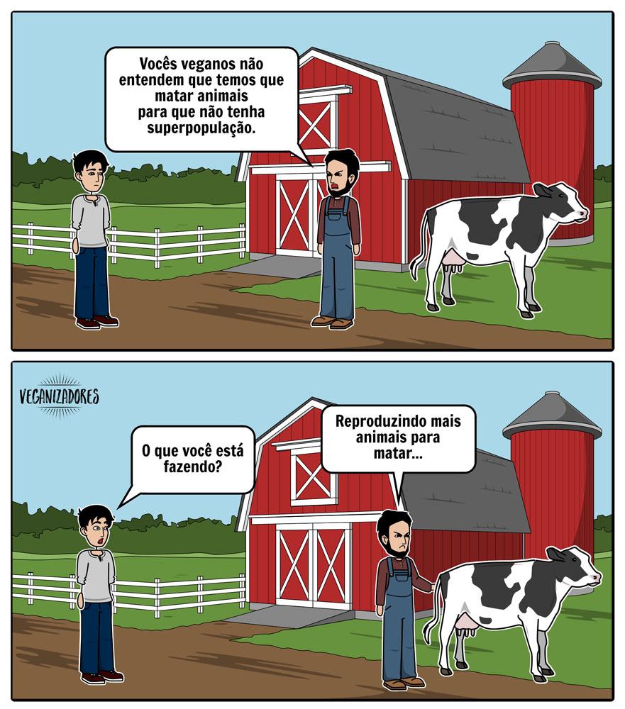 Quadrinhos Veganos - Superpopulação de Animais - Veganizadores
