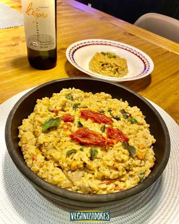 Receita Vegana - Risoto Caprese - Vegan Recipe