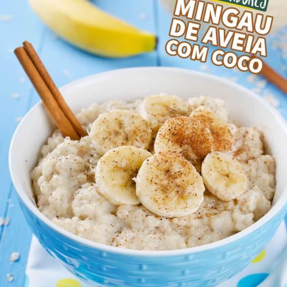Mingau de Aveia com Coco - Receita Vegana - Veganizadores