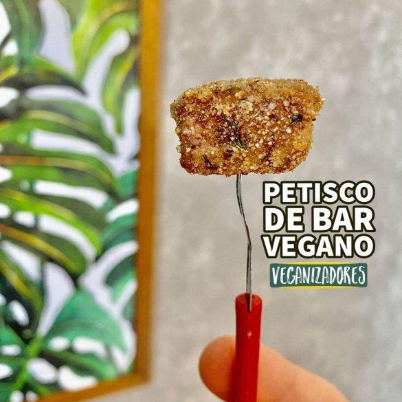 Petisco de Bar Vegano - Tofu Empanado - Receita Vegana - Veganizadores