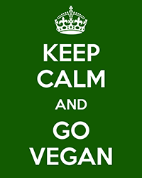 keep calm and go vegán