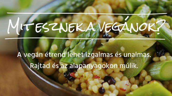 mit eszik egy vegan