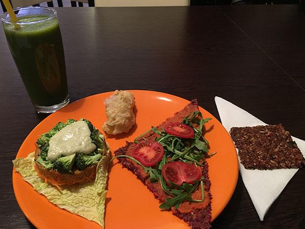 nyers vegán ebéd natúr ételbár