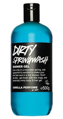 lush dirty springwash vegán tusfürdő
