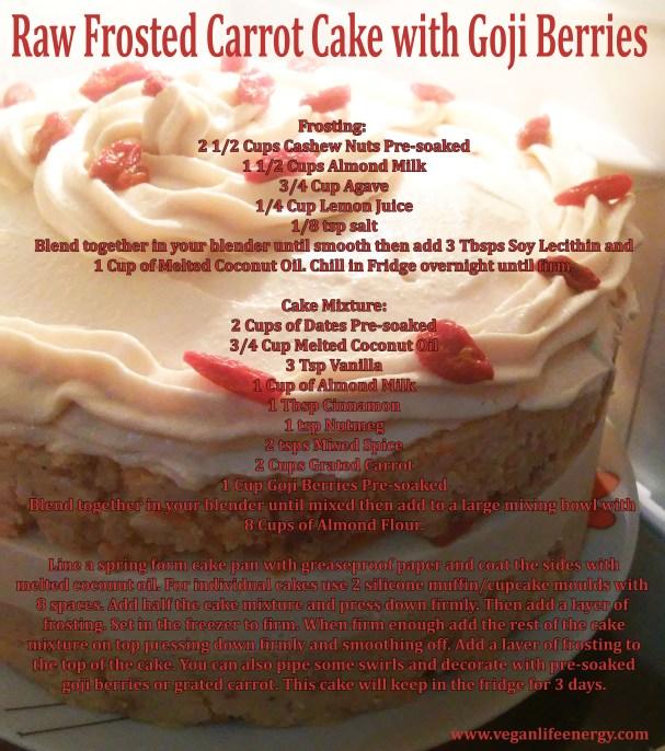 goji berry cake recipe