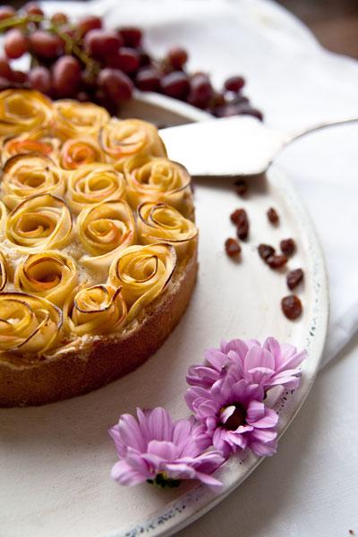 Apfel Rosen Kuchen Vegan Zuckerfrei Vegan Mom