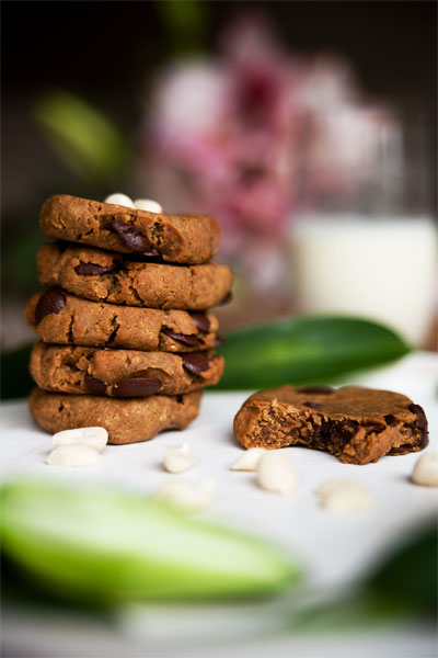 Vegane schoko cookies backen
