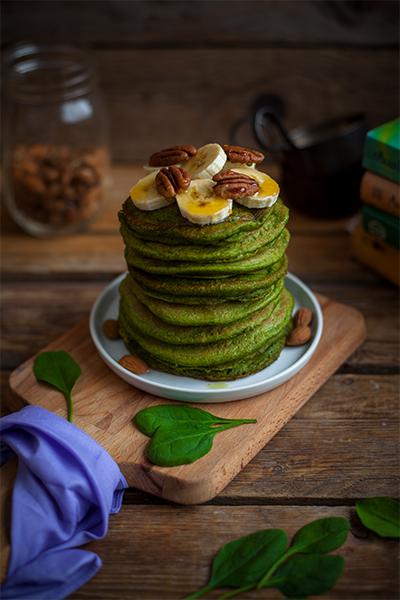Spinat Pancakes vegan rezept