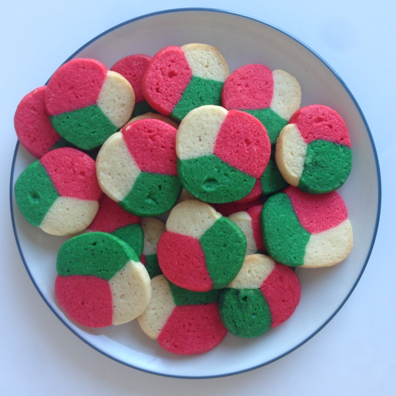 Tri Colored Mint Holiday CookiesVEGAN MOS