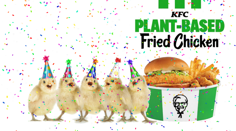 Vegan KFC fried chickenA