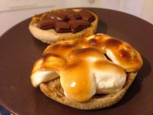 Vegan S'mores on an English Muffin | Vegan Nom Noms