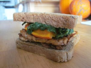 Tempeh with Pumpkin and Spinach Sandwich | Vegan Nom Noms