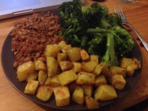 Red Red Stew with Potatoes and Broccoli   Vegan Nom Noms