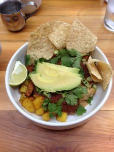 The Lunch Room Ann Arbor Chilaquiles | Vegan Nom Noms