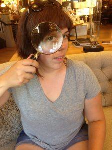 Me with Giant Lens   Vegan Nom Noms
