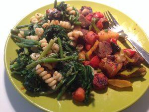 Homemade Food Portland Tofurky Kale | Vegan Nom Noms