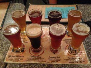 Craft Beer Flight Brewery Mountain View   Vegan Nom Noms