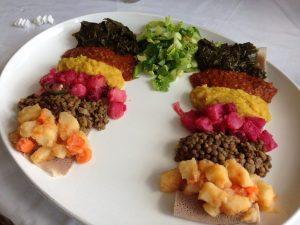 Nile New Orleans Ethiopian Veg Plate   Vegan Nom Noms