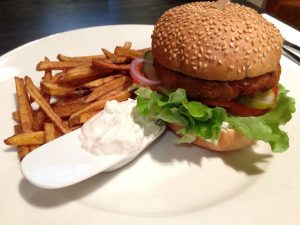 Fat Pumpkin Fishless Burger Riga Latvia - Vegan Nom Noms