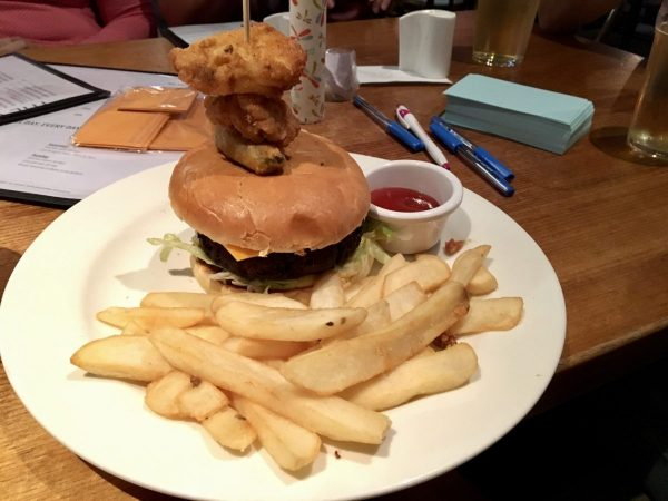 The Cornish Arms Vegan Burger Melbourne