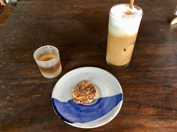 The Garden Kafe Ubud Non-Dairy Milk Latte Raw Vegan Cookie