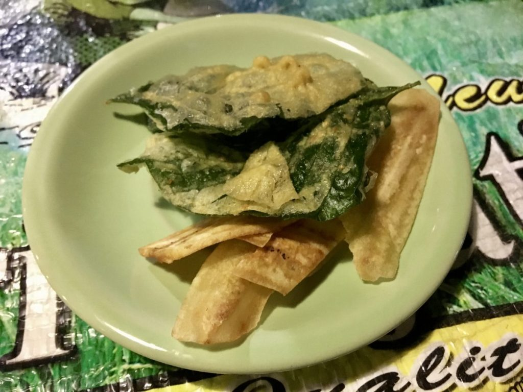 Warung Semesta Ubud free fried veg appetizer