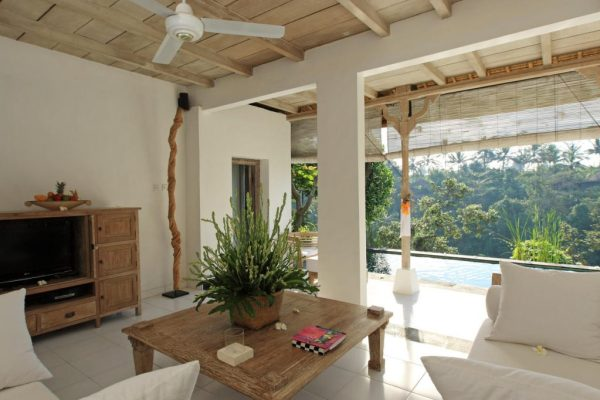 Villa Shambala Living Area - Private Villa Luxurious in Ubud
