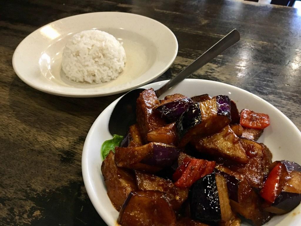 vegan penang zen xin vegetarian restaurant sambal eggplant